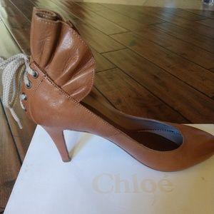 Chloe Heel with Ruffle Heel Detail